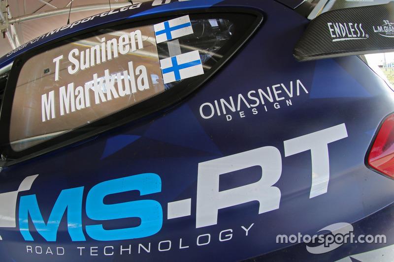 Coche de Teemu Suninen, Mikko Markkula, M-Sport, Ford Fiesta WRC