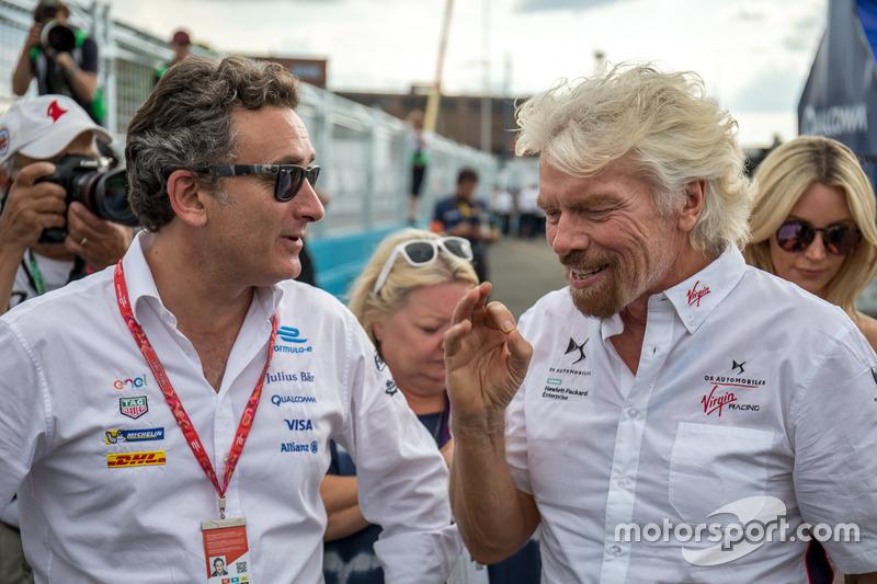 Alejandro Agag, Fórmula E CEO, Richard Branson