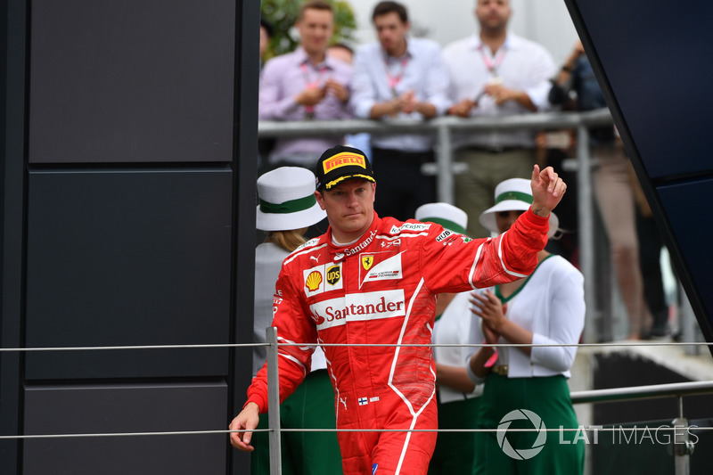 Kimi Raikkonen, Ferrari sul podio