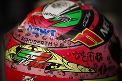 Sergio Pérez, Force India, casco detalle