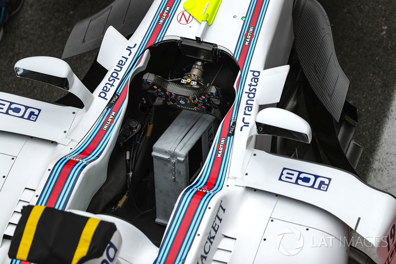 Williams FW40 Steering wheel and cockpit detail