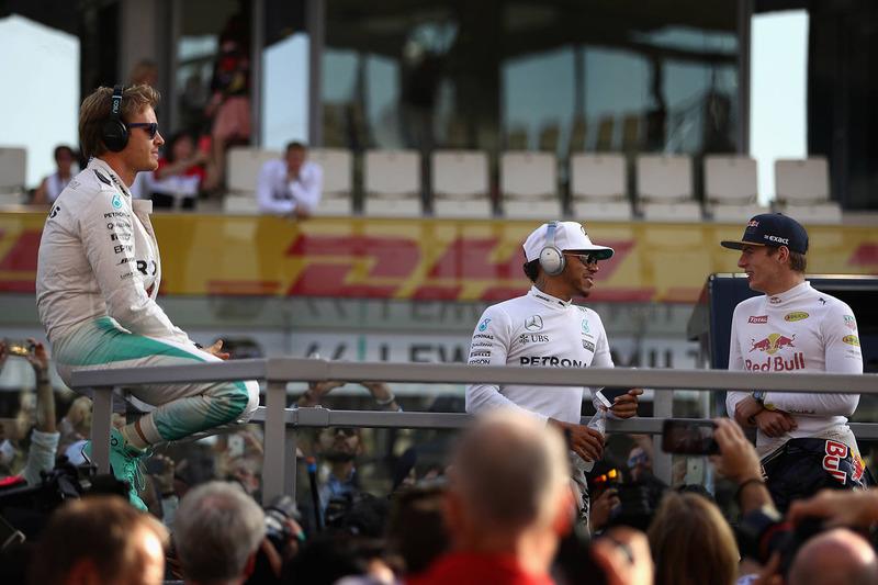 Ніко Росберг, Mercedes AMG F1, Льюїс Хемілтон, Mercedes AMG F1, Макс Ферстаппен, Red Bull Racing