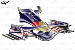STR03 (Red Bull RB4) 2008 Fuji front wing and nose
