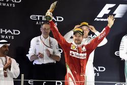 Podium: third place Sebastian Vettel, Ferrari