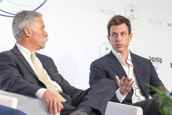 Chase Carey, Chief Executive Officer and Executive Chairman of the Formula One Group, Toto Wolff, Mercedes AMG F1 Director of Motorsport
