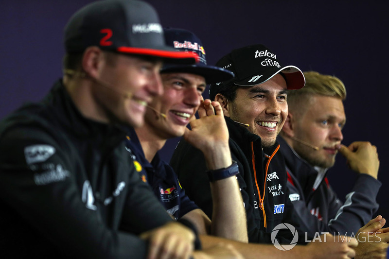 Stoffel Vandoorne, McLaren, Max Verstappen, Red Bull Racing, Sergio Pérez, Force India, Kevin Magnussen, Haas F1