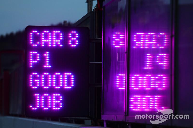 Race winners #8 Toyota Gazoo Racing Toyota TS050 Hybrid: Anthony Davidson, Sébastien Buemi, Kazuki Nakajima