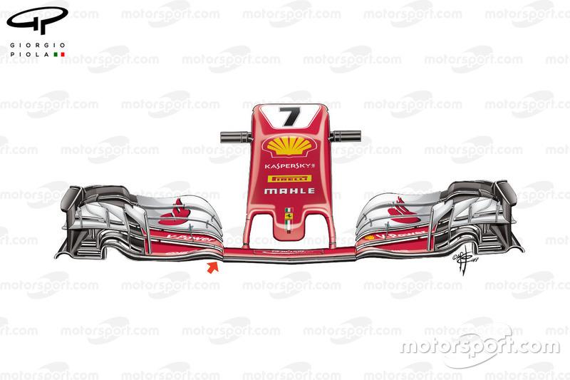 Новий ніс Ferrari SF70H