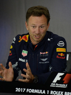 Christian Horner, team principal Red Bull Racing en conférence de presse