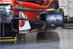 Detalle de freno delantero de Ferrari SF70-H