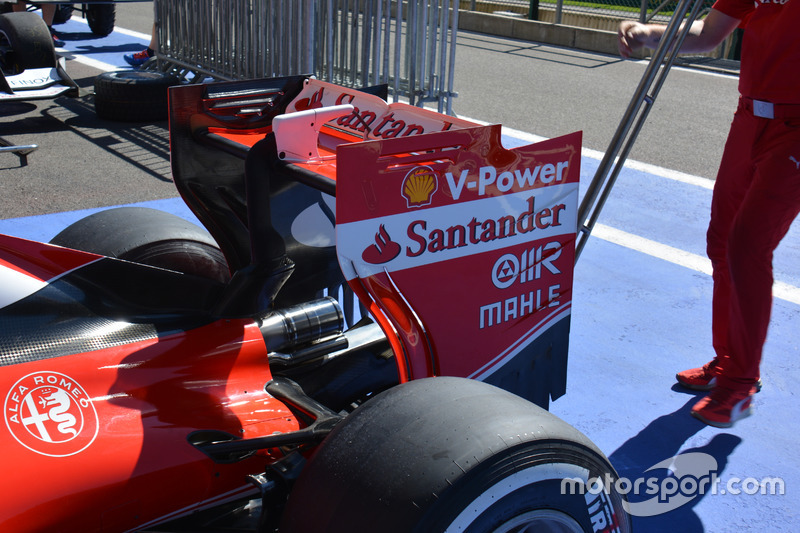 Ferrari SF16-H: ala posteriore di Spa