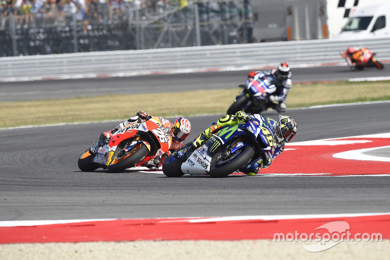 Valentino Rossi, Yamaha Factory Racing; Dani Pedrosa, Repsol Honda Team