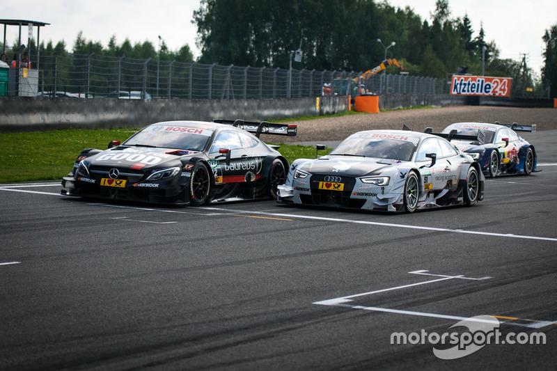 Daniel Juncadella, Mercedes-AMG Team HWA, Mercedes-AMG C63 DTM e Nico Müller, Audi Sport Team Abt Sp