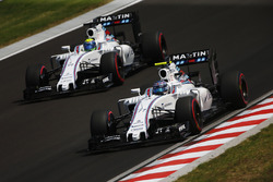 Valtteri Bottas, Williams FW38 and Felipe Massa, Williams FW38