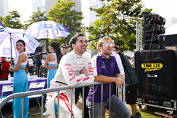 Neel Jani,, Dragon Racing, Sam Bird, DS Virgin Racing, observan la eRace