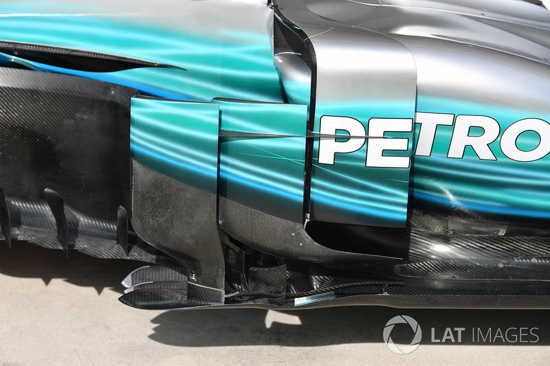 Mercedes W08: Luftleitbleche