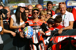 Marco Melandri, Ducati Team takes pole position