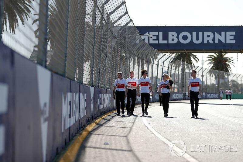 Giro di pista per Charles Leclerc, Sauber