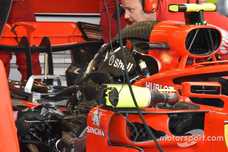 Ferrari SF71H, dettaglio del motore