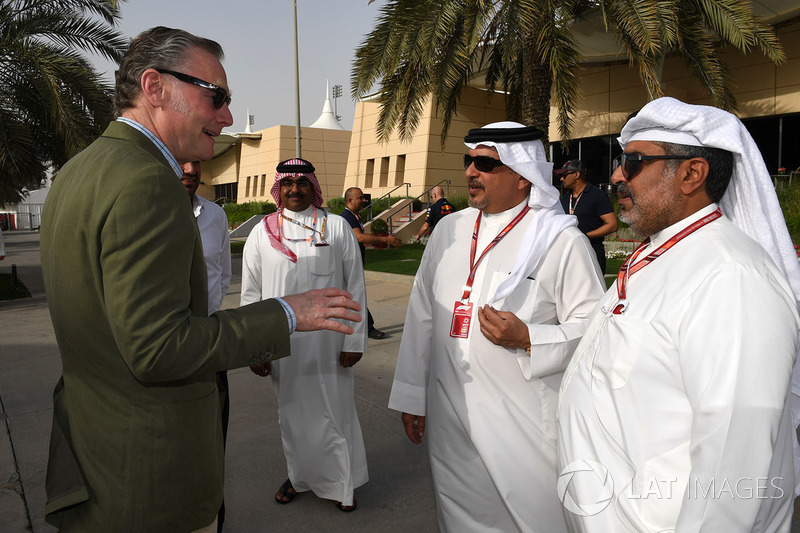 Sean Bratches, Formula One Managing Director, Commercial Operations and Crown Prince Shaikh Salman b