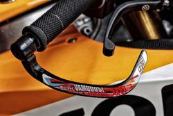 Gros plan sur la moto de Marc Marquez, Repsol Honda Team