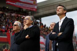 Piero Lardi Ferrari, vice-président de Ferrari et Sergio Marchionne, PDG de Fiat