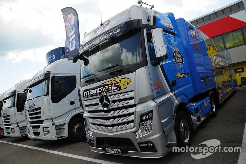 Marc VDS Racing Honda truck at Italian GP