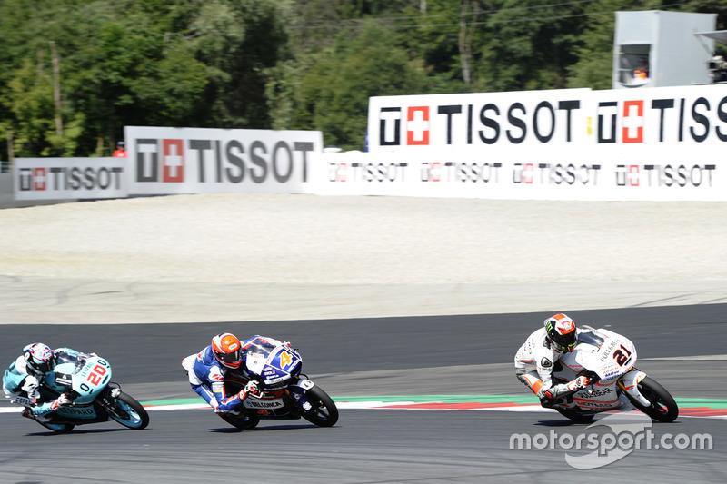 Francesco Bagnaia, Aspar Team Mahindra, Mahindra; Fabio Di Giannantonio, Gresini Racing Moto3, Honda; Fabio Quartararo, Leopard Racing, KTM