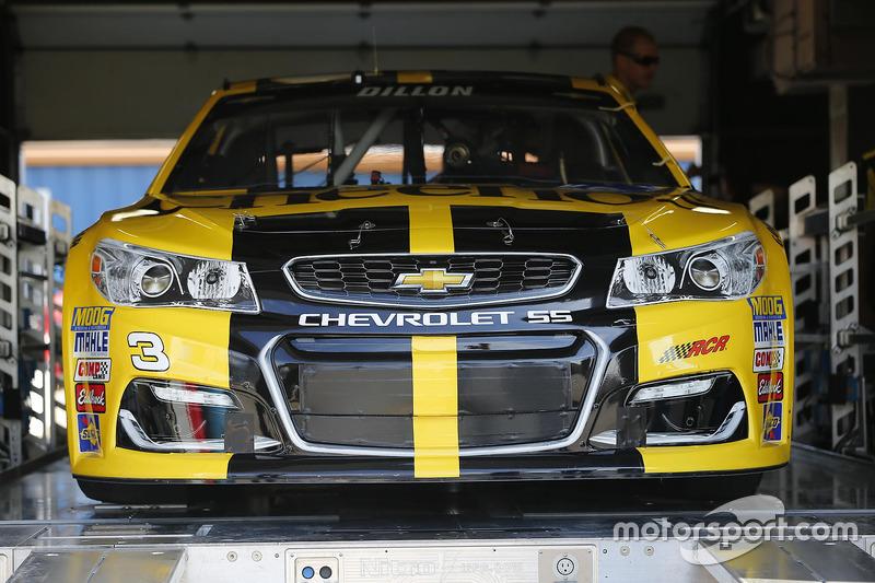 L'auto di Austin Dillon, Richard Childress Racing Chevrolet, durante le verifiche