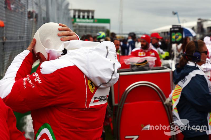 Кімі Райкконен, Ferrari, на стартовій решітці