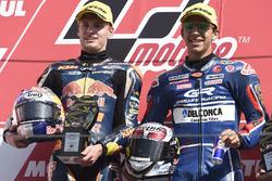 Podium: race winner Enea Bastianini, Gresini Racing Team Moto3, second place Brad Binder, Red Bull K