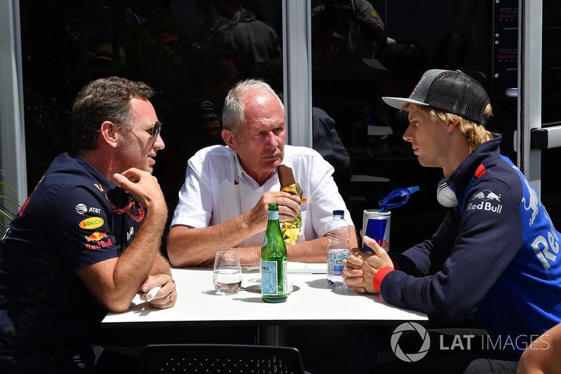 ccho, Dr Helmut Marko, Red Bull Motorsport Consultant and Brendon Hartley, Scuderia Toro Rosso