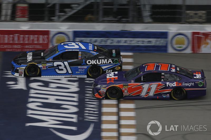 Denny Hamlin, Joe Gibbs Racing, Toyota Camry FedEx Freight Ryan Newman, Richard Childress Racing, Chevrolet