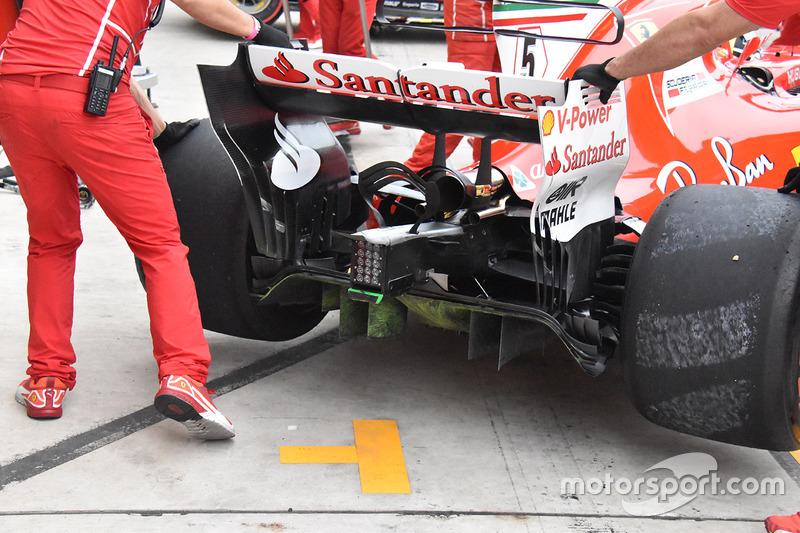 Ferrari SF70H : diffuseur