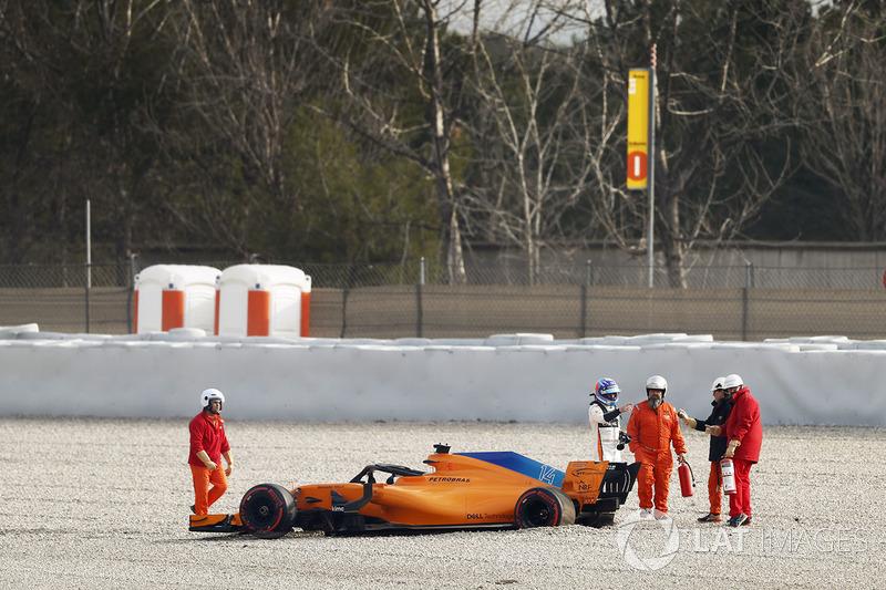 Fernando Alonso, McLaren MCL33 kaza