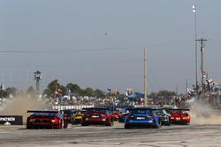 #48 Paul Miller Racing Lamborghini Huracan GT3, GTD: Madison Snow, Bryan Sellers, Corey Lewis, #15 3GT Racing Lexus RCF GT3, GTD: Jack Hawksworth, David Heinemeier Hansson, Sean Rayhall, #14 3GT Racing Lexus RCF GT3, GTD: Dominik Baumann, Kyle Marcelli, Philipp Frommenwiler
