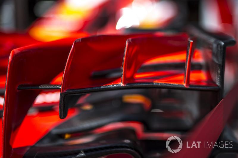 Ferrari SF71H detail van de voorvleugel