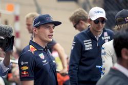 Max Verstappen, Red Bull Racing lors de la parade des pilotes