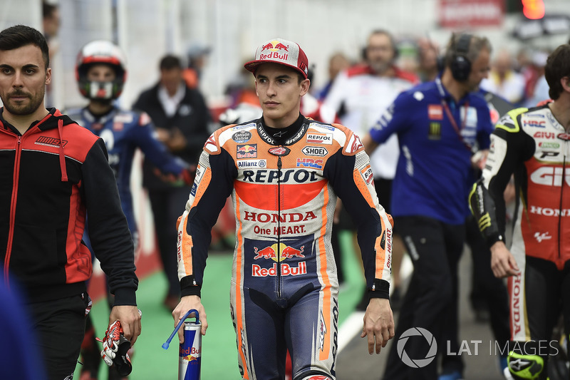 Marc Marquez, Repsol Honda Team, riders leaving the grid
