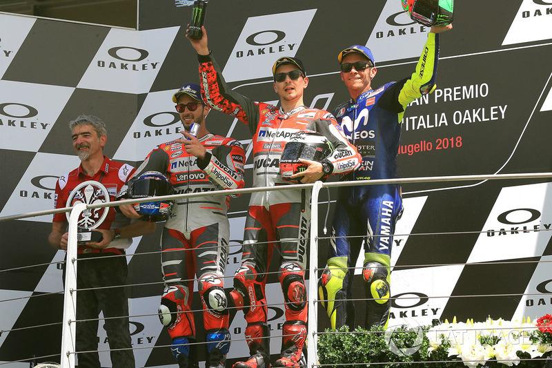 #6 GP d'Italie - Podium : Jorge Lorenzo, Andrea Dovizioso, Valentino Rossi