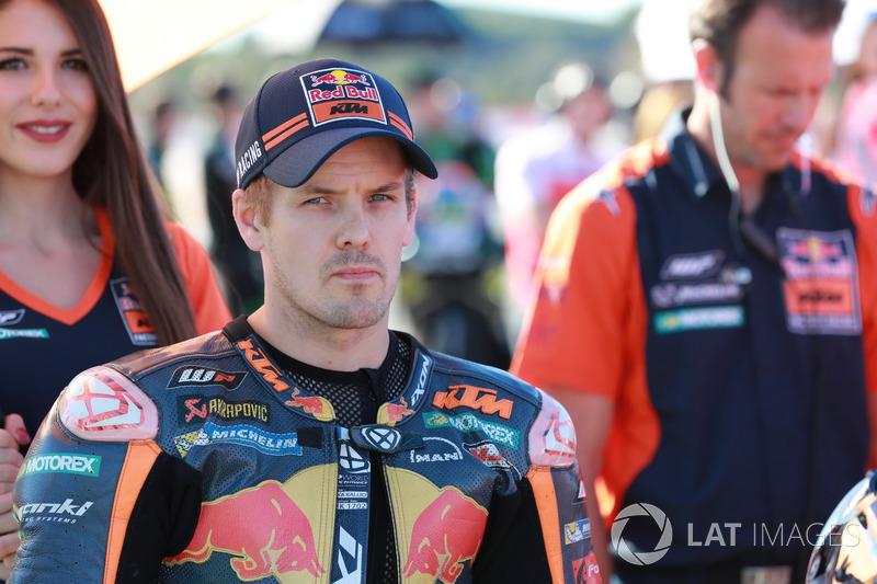 Sturz: Mika Kallio, Red Bull KTM Factory Racing