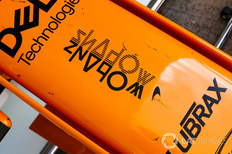 Shadow e-Sports logo on the nose of the McLaren MCL33