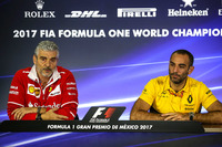 Press Conference Maurizio Arrivabene, Ferrari Team Principal and Cyril Abiteboul, Renault Sport F1 Managing Director
