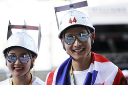 Japanese fans of Lewis Hamilton, Mercedes AMG F1