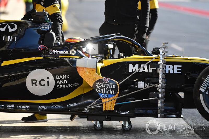 Carlos Sainz Jr., Renault Sport F1 Team R.S. 18 con sensores