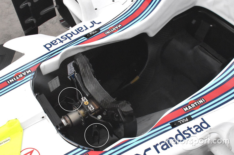 Williams FW40: Lenkrad