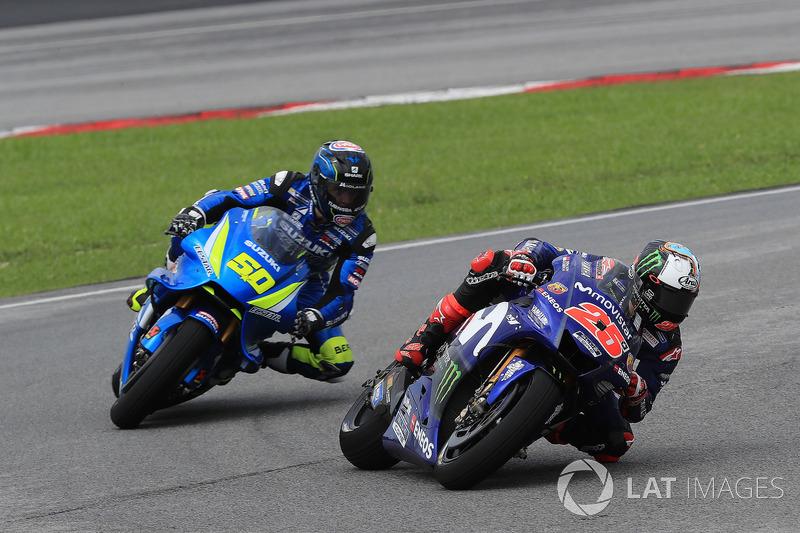 Maverick Viñales, Yamaha Factory Racing, Sylvain Guintoli, Team Suzuki MotoGP