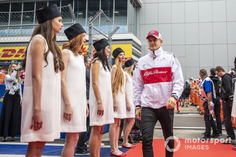 Marcus Ericsson, Sauber on the drivers parade
