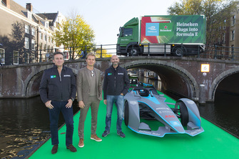 Founder CEO of Formula E Alejandro Agag, Formula E investor, Heineken ambassador Nico Rosberg and Senior Director Global Heineken brand at HEINEKEN Gianluca Di Tondo