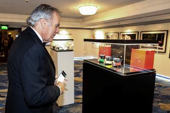 Giorgio Piola checks out his watch collection